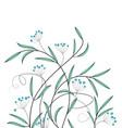 decoration of flowers vector image