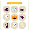 Flat Halloween Icons Set vector image