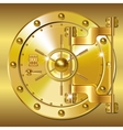 Gold Bank doors vector image