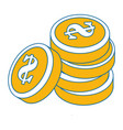 isolated money coins vector image
