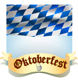 Oktoberfest banner with flag vector image