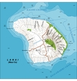 Topographic Map of Lanai Island Hawaii vector image