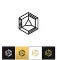 Cube 3d brick logo icon vector image