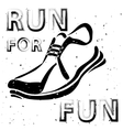 Sport Shoes Typography Design vector image