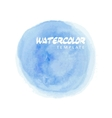 Blue watercolor splatter vector image