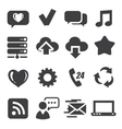 web and communication icons vector image