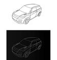 mash v vector image vector image