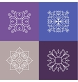 abstract emblems - outline monograms vector image