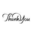 thank you hand lettering text vector image vector image