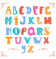 Cute alphabet isolated on white background Hand vector image