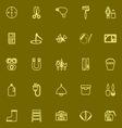 DIY tool yellow line icons vector image