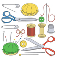 Color set of sewing supplies vector image