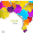 Colorful flower stickers vector image vector image
