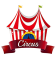 A circus label vector image