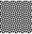 Abstract seamles monochrome pattern vector image