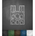 Castle icon Hand drawn vector image