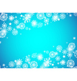 Christmas beautiful blue background vector image