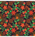 Floral Seamless Texture with a Strawberry vector image