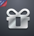 gift icon symbol 3D style Trendy modern design vector image