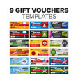 gift vouchers set vector image