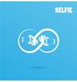 Infinite selfie logo elements design vector image