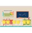 Lesson of chemistry at school classroom vector image
