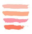 set of pastel powder watercolor brush stroke vector image