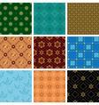 set of various seamless geometric pattern vector image