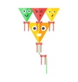 Small flying rainbow colorful fish kite fun wind vector image