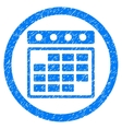 Month Calendar Rounded Icon Rubber Stamp vector image