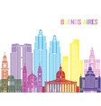 buenos aires v2 skyline pop vector image vector image