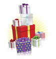 lots of presents concept vector image