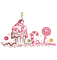 muffin cake sweets candy vector image