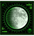 Radar screen with Moon vector image vector image