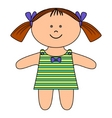 ragdoll girl vector image