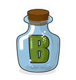 letter B in laboratory bottle Letter in a magic vector image