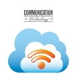 communication technology design vector image