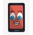 Funny emoticon cartoon design vector image vector image
