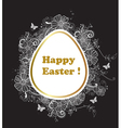 Easter background with greeting inscription vector image