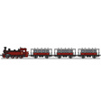 Vintage red steam train vector image