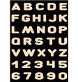 alphabet wooden letters vector image