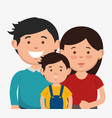 couple and kid design vector image