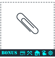 Paper clip icon flat vector image