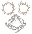set of different frame of deer antlers vector image