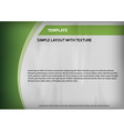 template green curve side vector image vector image