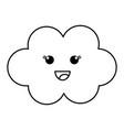cloud sky baby vector image