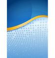 Modern blue folder golden border vector image