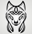 Wolf Tribal Tattoo Design vector image vector image