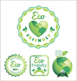 Eco Labels Bio template Ecology theme vector image