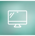 Monitor thin line icon vector image vector image